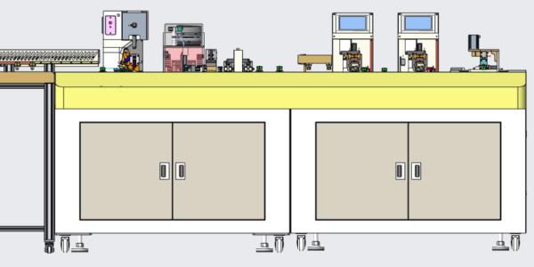 二次线自动化生产线之全自动套号码管端子机