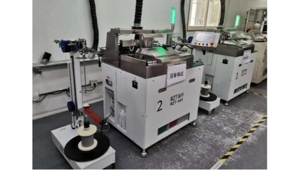 RZT-501全自动剥皮沾锡机已出货并正式投入生产